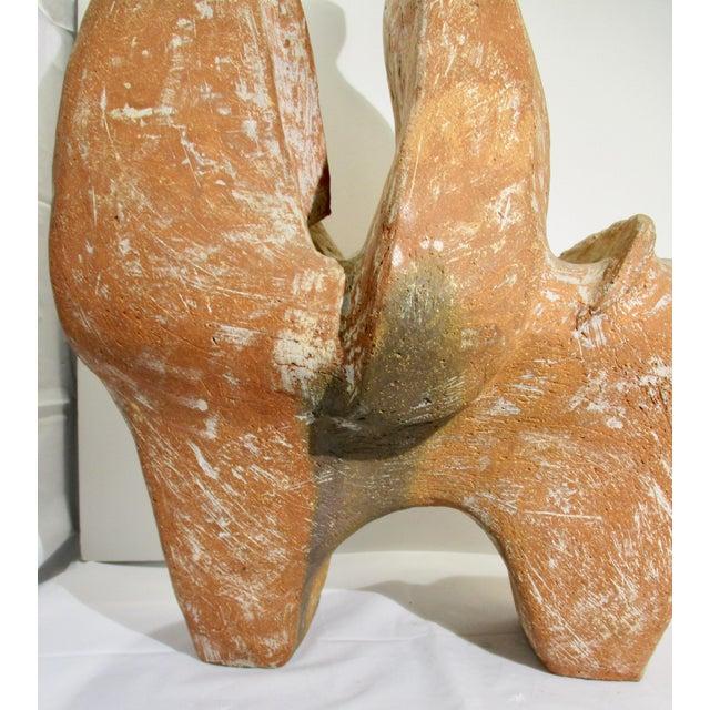 Orange Large Terra Cotta Horse Sculpture by James T. Sampson For Sale - Image 8 of 12