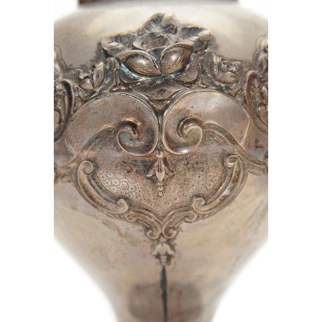 Topazio 19th Century Silver Repousse Vase - Image 2 of 8