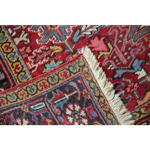 """Brick Red Vintage Heriz Carpet- 7'6"""" X 10' For Sale - Image 8 of 12"""