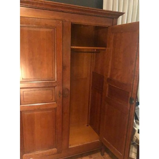 Grange 1980s Grange Directoire Distressed Fruitwood Clothing Armoire For Sale - Image 4 of 10