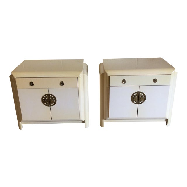Romweber Asian Style Nightstands - A Pair For Sale