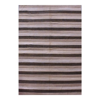Contemporary Striped Afghan Kilim Rug - 9'4'' x 13'2'' For Sale