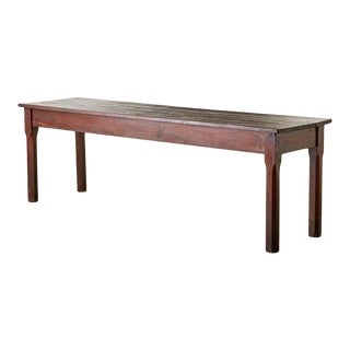 Rustic Italian Pine Farmhouse Dining Table or Console For Sale