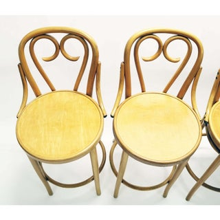 Mid Century Signed Thonet Bar Stools - Set of 4 Preview