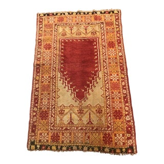 Antique Wool Prayer Rug For Sale