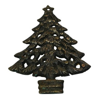 Christmas Tree Brass Trivet