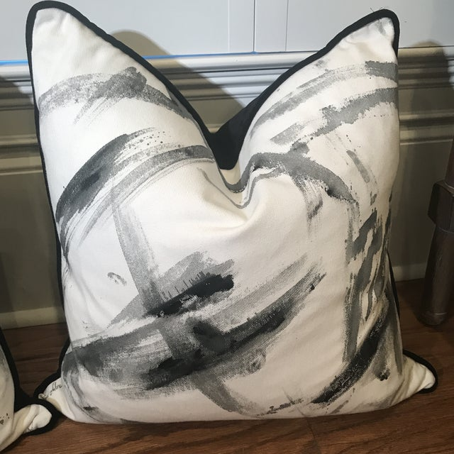 Abstract Abstract Hand-Painted Custom Artist Signed Pillows - a Pair For Sale - Image 3 of 13