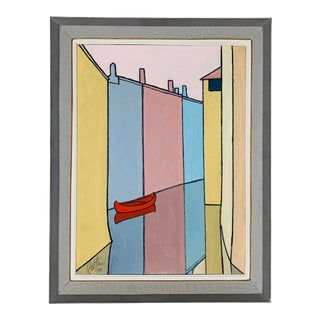 1978 Mid-Century Modern Abstract Color Block Painting For Sale