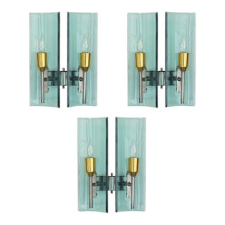 Cristal Arte Beveled Sconces (3 Available) For Sale