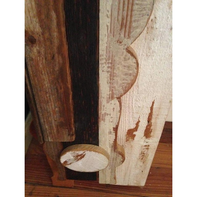 Tan Abstract Wood Collage by Felice Antonio Botta, Italy, 20th Century For Sale - Image 8 of 9