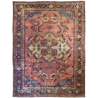 Antique Persian Mahal Carpet For Sale