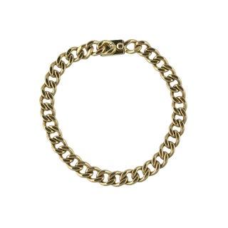 14k Gold Link Charm Bracelet For Sale
