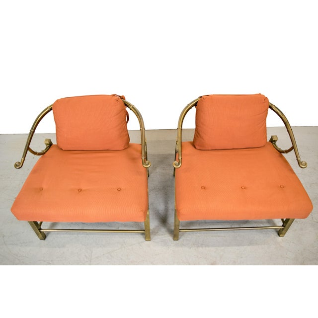 Brass Lounge Chairs by Mastercraft - Pair - Image 10 of 10