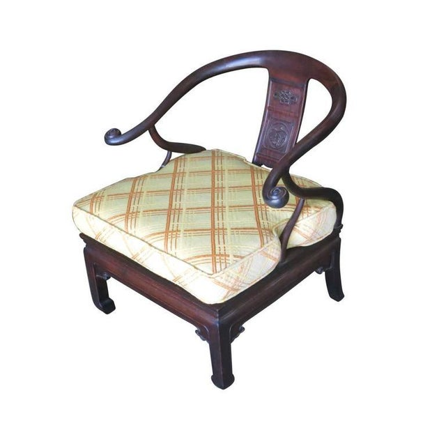 James Mont Style Horseshoe Lounge Chairs, Pair - Image 2 of 10