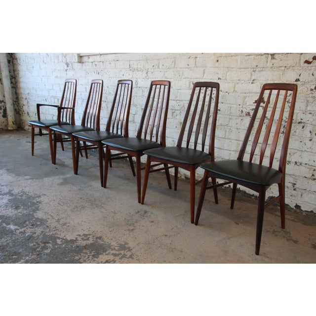 Niels Koefoed for Koefoeds Hornslet Eva Rosewood Dining Chairs- Set of 6 - Image 4 of 11