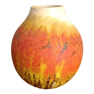 Marcello Fantoni Ceramic Vase For Sale