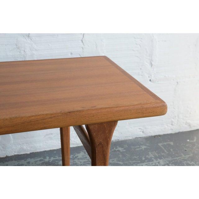 Johannes Andersen Style Teak Coffee Table For Sale - Image 5 of 5