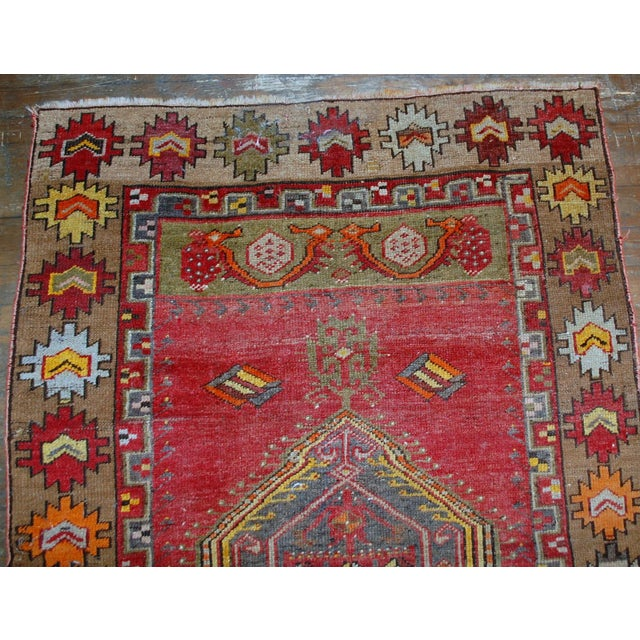 1920s Antique Turkish Anatolian Hand Made Rug - 3′1″ × 4′7″ - Image 3 of 7