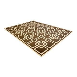 Contemporary Large Rectangular Geometric Area Rug Carpet For Sale