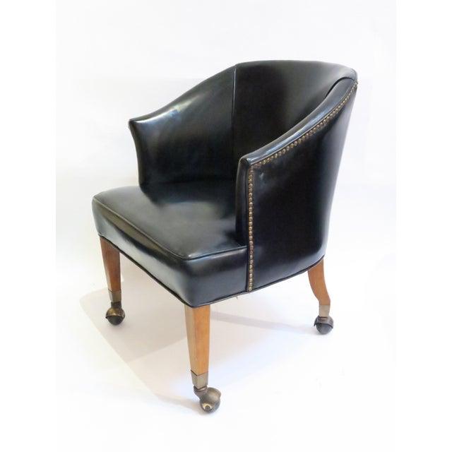 Vintage Black Armchair - Image 3 of 6