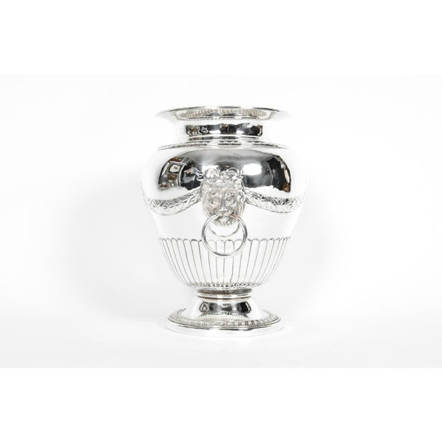 Metal Old Sheffield Silver Plate Decorative Vase For Sale - Image 7 of 9