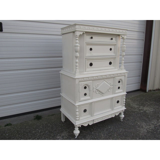 Jacobean/Gothic Highboy Chest Drawers - Image 3 of 5
