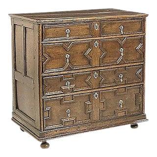 Antique 18th Century Jacobean Style Oak Chest
