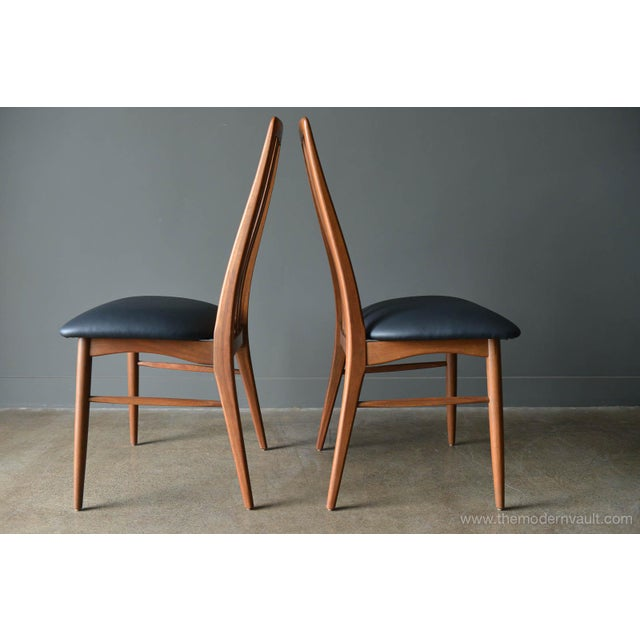 "1960s Vintage Koefoed of Denmark Walnut High Back ""Eva"" Dining Chairs - Set of 8 For Sale - Image 9 of 12"