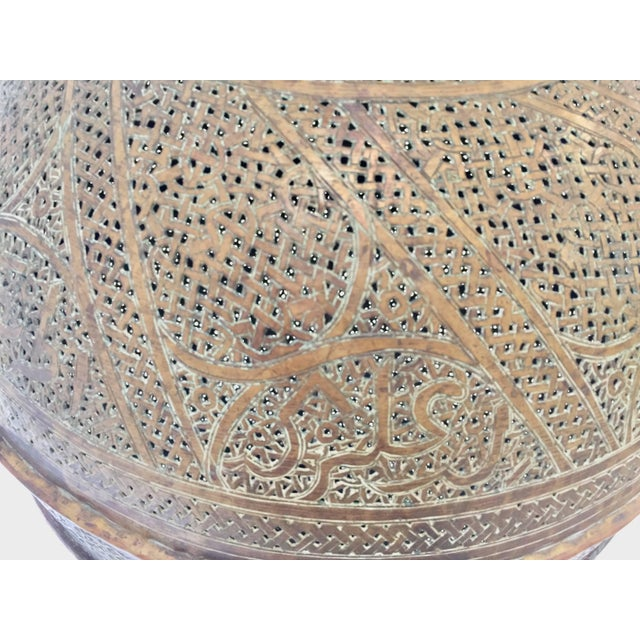 Antique 19th Century Middle Eastern Persian Oriental Brass Floor Lamp For Sale - Image 11 of 13