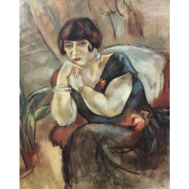 1954 Portfolio of 25 Color Stone Lithograph Prints by Jules Pascin For Sale - Image 10 of 13