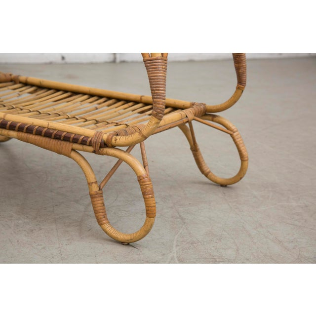 Bamboo Side Table With Magazine Rack - Image 7 of 7