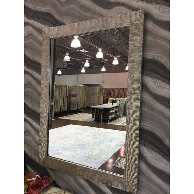 Troy MI floor sample Magnolia mirror Antique gold and silver leaf finish