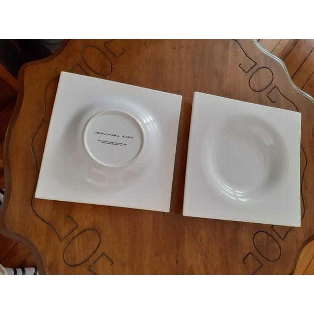 Ligne Roset Ligne Roset Jean-Marc Gady White Ceramic Moon Plates- Set of 6 For Sale - Image 4 of 6