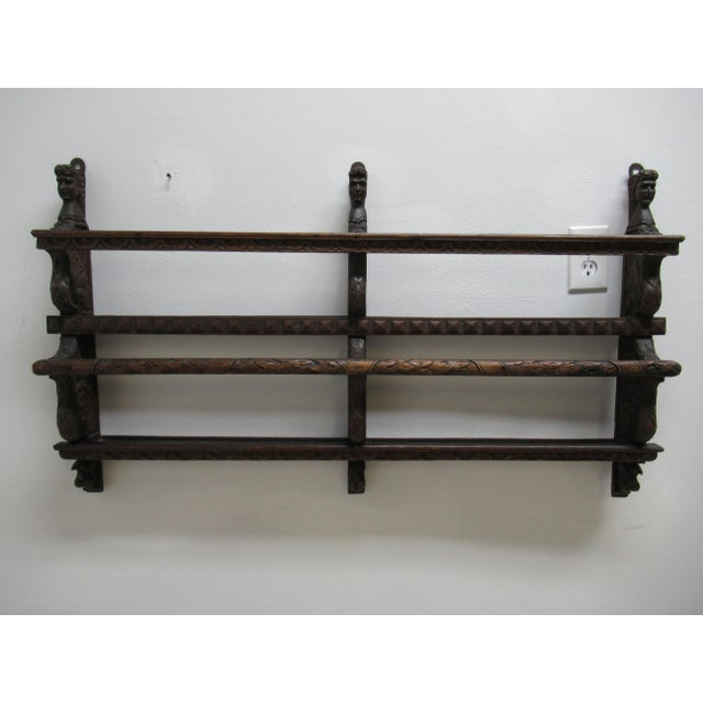 Italian Figural Carved Hand Plate Rack For Sale - Image 12 of 12