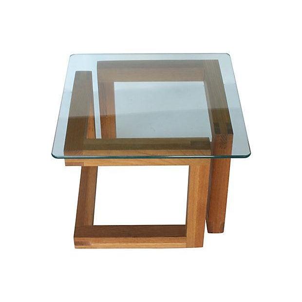 Mid-Century Modern Geometric Side Table - Image 3 of 3