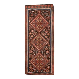 Afghani Hand Woven Wool Kilim Rug - 5′3″ × 13′ For Sale