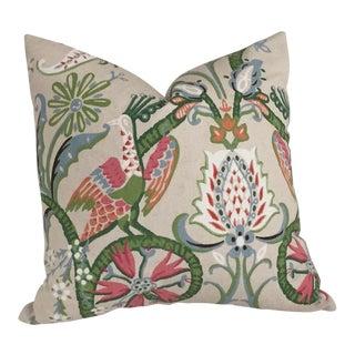 Thibaut Peacock Garden Pillow Cover For Sale