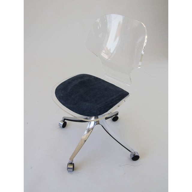 Hill Manufacturing Co. Lucite Rolling Desk Chair - Image 9 of 9