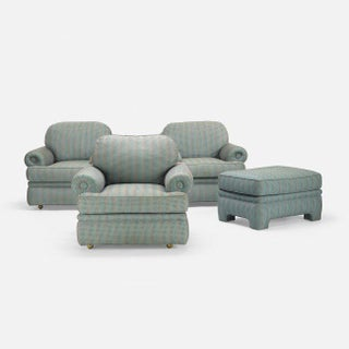 A. Rudin Vintage Lounge Chairs & Matching Ottoman - Set of 4, Circa 1960 Preview