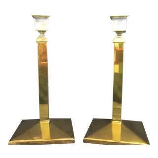 Antique Bradley and Hubbard Candlestick Holders - a Pair For Sale