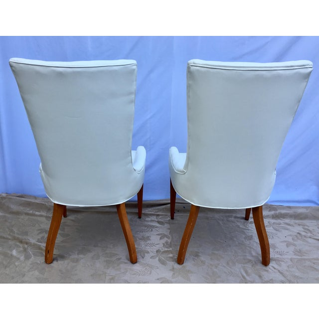 Animal Skin 1930s French Art Deco Chevron Side Chairs - a Pair For Sale - Image 7 of 13