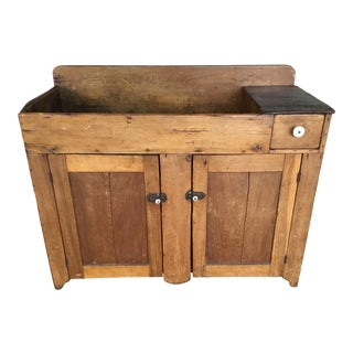 19th Century Antique Country Pine Primitive Dry Sink For Sale