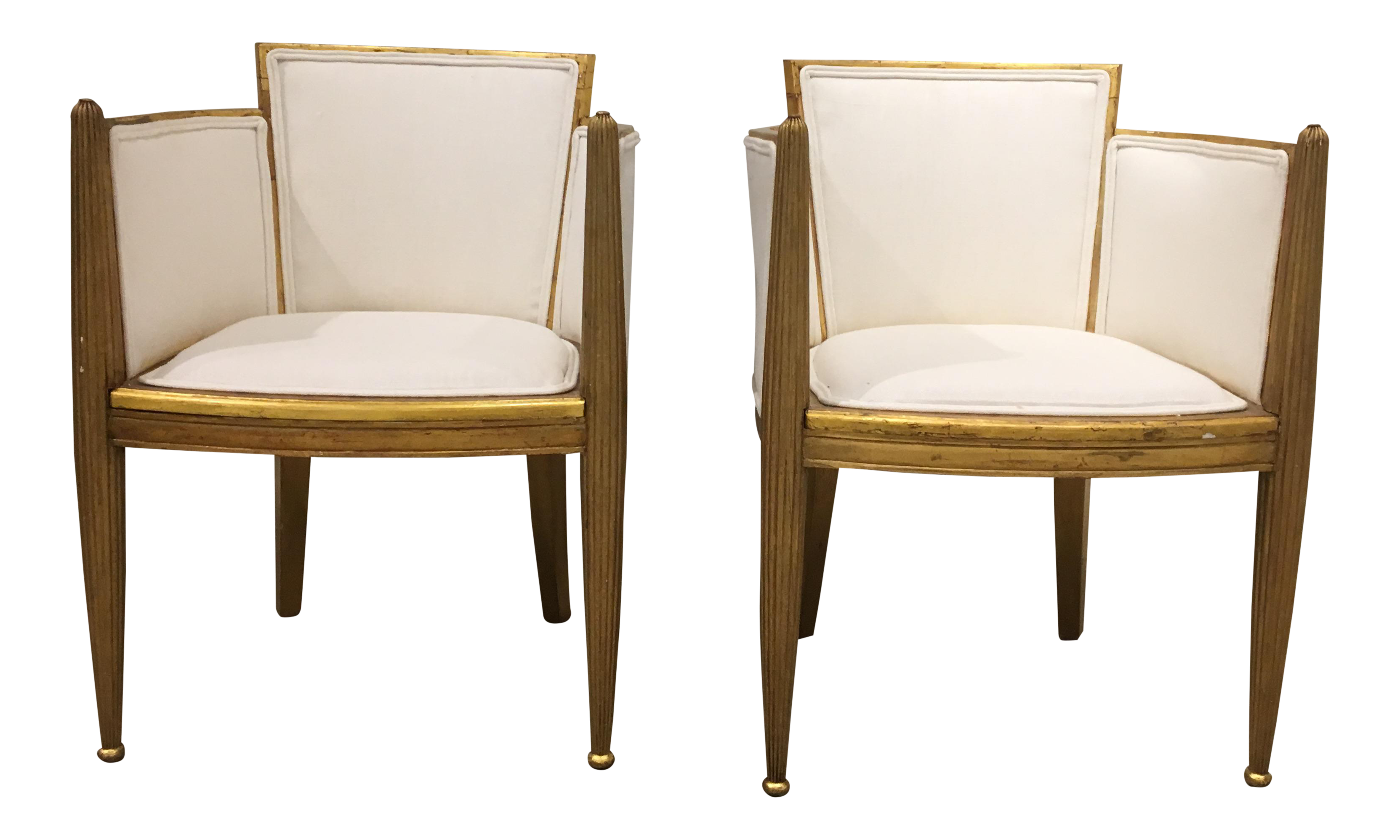 Pair Of Art Deco Gilded Chairs By Paul Follot   Image 1 Of 9