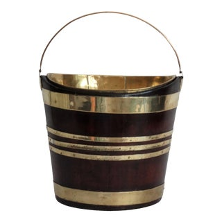 1820 English Mahogany Bucket Wine Cooler For Sale