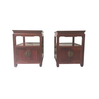 Mid-20th Century Hongmu End Tables - a Pair Preview