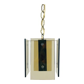 1970s Mid-Century Modern Glass Pendant Lighting by Veca, Italy For Sale