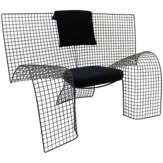 Memphis Steel Mesh Chair by D'Urbino Lomazzi for Zerodesigno For Sale