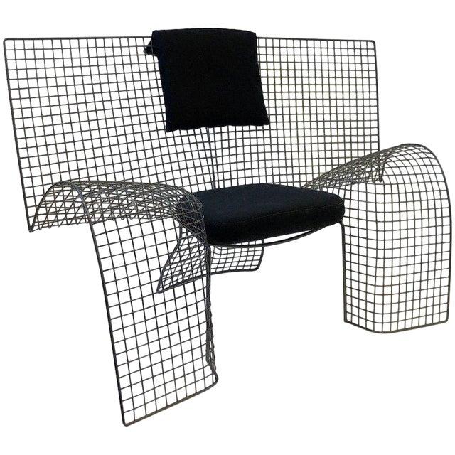 Memphis Steel Mesh Chair by D'Urbino Lomazzi for Zerodesigno For Sale