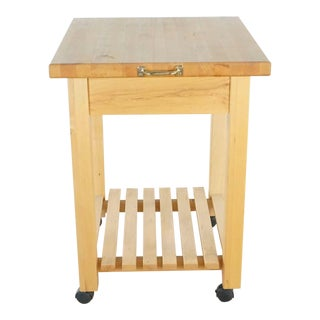 Williams-Sonoma Grande Cuisine Wooden Kitchen Cart For Sale