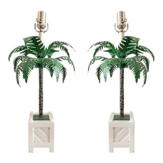 Maison Bagues Tole Lamps, Pair For Sale